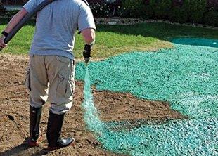 Гидропосев газона: плюсы и минусы метода